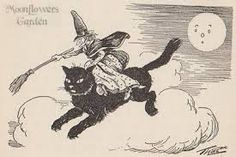 he first witch in this delectable selection of 'Li'l Old Ladies' appears in The Mary McClure Golden Story Book. The story is titled - The Elves and the Pussycat (A Story for Hallow E'en) in which the elves, Long Legs and Tiny Toes, set out to protect Granny Doody's black cat from being pressed into the service of a no good witch for Halloween.