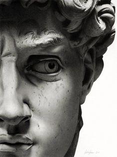 David (Michel Ange) The rest is silence (Hamlet ) - sicile mon amour - - Roman Sculpture, Art Sculpture, Michelangelo Sculpture, Sculpture Romaine, Art Noir, Renaissance Kunst, Greek Statues, Greek Art, Aesthetic Art
