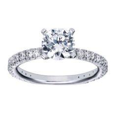 Radiant Polenza Engagement Ring