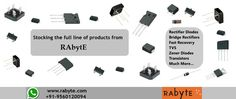 Rabyte - Authorized distributor of electronic components like Semiconductors, OPTO Electronics, Electromechanical and Passive components etc. Please post your enquiry at enquiry@rabyte.com / what's app +91-9560120094