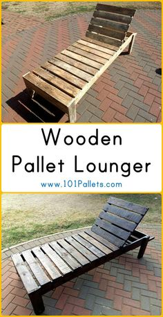 Wooden Pallet Lounger | 101 Pallets - Lounge chair for outdoor garden or swimming pools