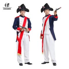 ROLECOS Brand 2016 Men Halloween Costumes Napoleon Cosplay Costumes Ancient French Soldier Uniform Men Halloween Party Costumes #Affiliate