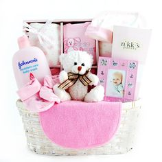 Welcome Baby Girl Gift Basket