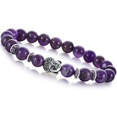 Joya Gift Jewelry Fashion Bracelets Natural Amethyst Chakra Healing 8mm Round Beads Buddha Bracelet for Aunt Gift  Welcome to JOYAGIFT shop. All products are natural Stone and handmade made. Because the stone is a natural formation of the goods, so the color and pictures of each product on a certain gap. If you Can't accept, please don't buy. And you can click our brand name which on the top of the title; you can find more jewelry making beads with high quality and reasonable price. ..