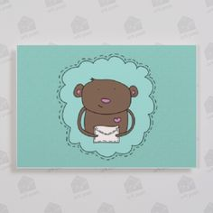 With our personalised greeting cards service you can even send your friend a letter with a monkey with a letter, isn't it cool?