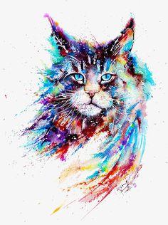 Watercolor cat PNG and Clipart Watercolor Cat, Watercolor Animals, Watercolor Paintings, Cat Paintings, Watercolors, Watercolor Tattoo, Tableau Pop Art, Aquarell Tattoos, Cat Clipart