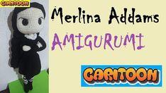Muñeca Merlina Addams Amigurumi
