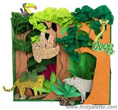Rainforest Habitat Diorama craft