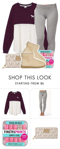 """""""School Outfit .✏️"""" by clinne345 ❤ liked on Polyvore featuring Victoria's Secret, Forever 21, Michael Kors and UGG Australia"""