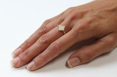 Deco Ring (14K gold and silver). $72.00, via Etsy.
