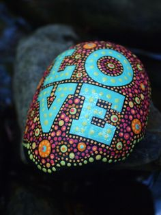Love Stone / Painted Rock / Written on Stone / by mitsel8 on Etsy