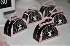 Chanel party favors, purses