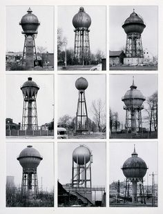 Bernd And Hilla Becher's Industrial Photography Industrial Architecture, Art And Architecture, History Of Photography, Art Photography, Bernd Und Hilla Becher, Farm Windmill, Tower Design, Industrial Photography, Fantasy Landscape