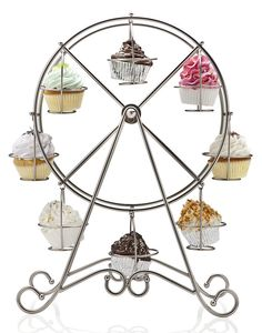 Ferris Wheel Cupcake Holder via Kara's Party Ideas Shop! www.KarasPartyIdeas.com/shop
