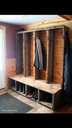 Entryway   Custom Shoe Storage Bench   Rustic Entryway Bench Boot Bench  With Shoe By CoastalOakDesigns | Project   JTC Home | Pinterest | Rustic  Entryway, ...