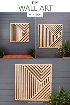 Wooden Wall Art, Diy Wall Art, Diy Art, Decorative Wood Wall Panels, Diy Wall Panel, Wood Wall Art Decor, Wall Wood, Outdoor Wall Art, Outdoor Decor