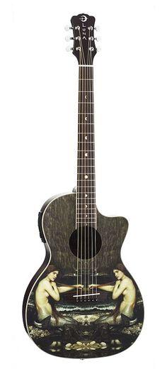 Luna Mermaid Acoustic Guitar- The object of my passions Luna Ukulele, Ukulele Art, Guitar Art, Music Guitar, Cool Guitar, Playing Guitar, Guitar Room, Luna Guitars, Music Heart