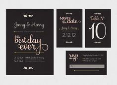 Printable Wedding Invitation Suite - Best Day Ever