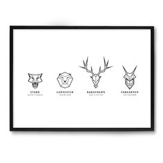POSTER GAME OF THRONES HOUSES