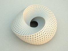 minimalist geometric hyperbolic art ceramic contemporary sculpture art Torolf Sauermann