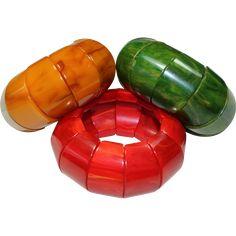 Vintage Bakelite Bracelet Set -- found at www.rubylane.com #vintagebeginshere