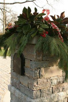 Beautiful Christmas mailbox!