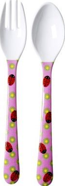 Rice Child lady birds cutlery `One size Details : 1 fork, 1 spoon, Ladybirds print, Flowers print Fabrics : Melamine Composition : No BPA, phtalates, lead or organic tin compounds Length : 14 cm, Width : 2 cm. Dishwasher safe, Not for use w http://www.com
