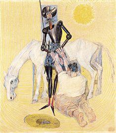 """""""Dom Quixote"""" no traço de Cândido Portinari."""