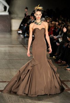 Reminds me a little of Emily's dress in the Revenge poster - Zac Posen Fall 2012 #NYFW