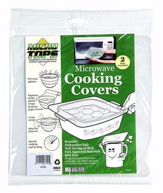 Camco 43790 Microwave Cover Cooking Plate 2 Pack Bpa Free
