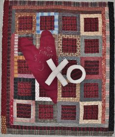 """Our next Monday's Best class is this coming Monday February 18th from 6:00pm 'til 9:00pm! We have a few openings… sew why not join our instructor extraordinaire Julie and make this Cheri Payne originally designed quilt 'Valentine's XOXO'... The class fee is 12 dollars & KITs are available... Finished size 15"""" by 18""""… Give us a call at 760-758-8308 to sign-up for quilt class, or better yet, we will see YOU at the shop ;- )"""