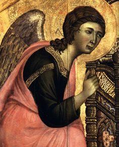 Duccio di Buoninsegna - Rucellai Madonna - detail (1285)
