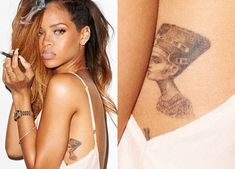 Rihanna - Nefertiti Tattoo #t4aw #rihanna #tattoo