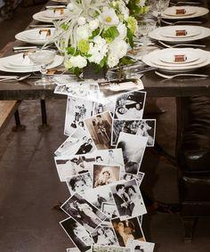 Casamentos DIY: Toalha de Mesa com fotos - DIY