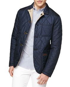 Burberry Brit reversible quilted nylon jacket, Navy/Camel