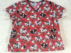 Disney Minnie Mouse Scrub Top Red Kiss Me Womens Nurse Stylish Scrubs, Scrub Tops, Kiss Me, Feeling Great, Floral Tops, Minnie Mouse, Disney, Women, Fashion