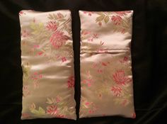 satin eye pillows filled with whole corn or rice. great for headaches, migraines, and sinus infections. Also great for icing sore ankles, groins, wrists. Removable, washable covers. Love this pattern!