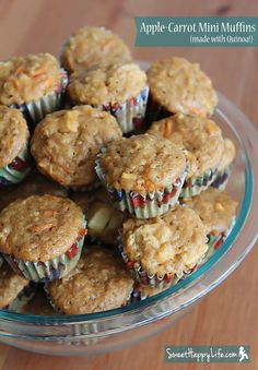 Apple-Carrot Mini Muffins (with Quinoa!) This is not GF as directed but the whole wheat flour could be omitted and replaced with GF rice flour, brown rice flour of a GF flour mix.  Sound delicious!