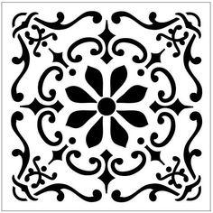 TILE52H Reusable Laser-Cut Floor or Wall Half Tile Stencil