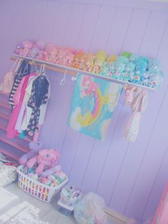 Another cute way to hang my clothes with the shelf above for shoes possibly.