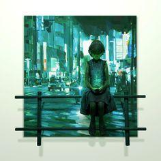 「音の中」/ in the sound, 2012, panting, polystyrene based sculpture