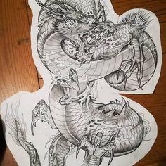 Dragon Tattoo Art, Dragon Sleeve Tattoos, Japanese Dragon Tattoos, Dragon Artwork, Dragon Tattoo Designs, Japanese Tattoo Designs, Japanese Tattoo Art, Asian Tattoos, Japan Tattoo