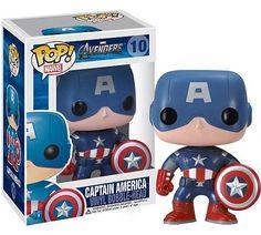 Funko Pop Marvel The Avengers Captain America Marvel Comics, Marvel Avengers Movies, Lego Marvel, Marvel Dc, Capitan America Marvel, Captain America, Pop Vinyl Figures, Funko Pop Avengers, Hawkeye Avengers