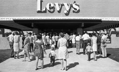Levy's Department store at El Con Mall 1969...Walmart is now in its place :/