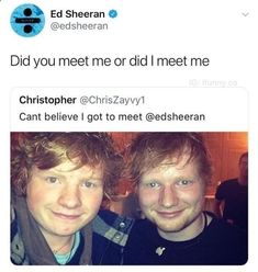Cloning technology works on Ed Sheeran - FunSubstance Really Funny Memes, Stupid Funny Memes, Funny Relatable Memes, Haha Funny, Funny Tweets, Funny Cute, Funny Posts, Funny Stuff, Funny Things