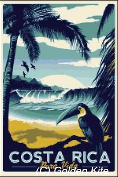 Costa Rica Poster - Solid colors