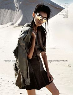 Minimalist Architectural Attire : Vogue China 'New Minimalism' Editorial