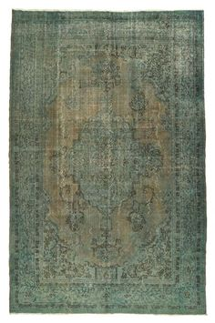 overdyed or distressed rug