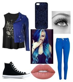 """Untitled #312"" by saraxx113 ❤ liked on Polyvore featuring River Island, Converse, Yves Saint Laurent, Urban Decay, Samantha Warren London and Lime Crime"