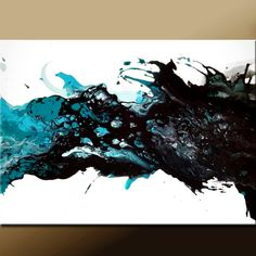 I want one of these abstract paintings one day, I love the unpredictable, yet calming composition and layering of colour